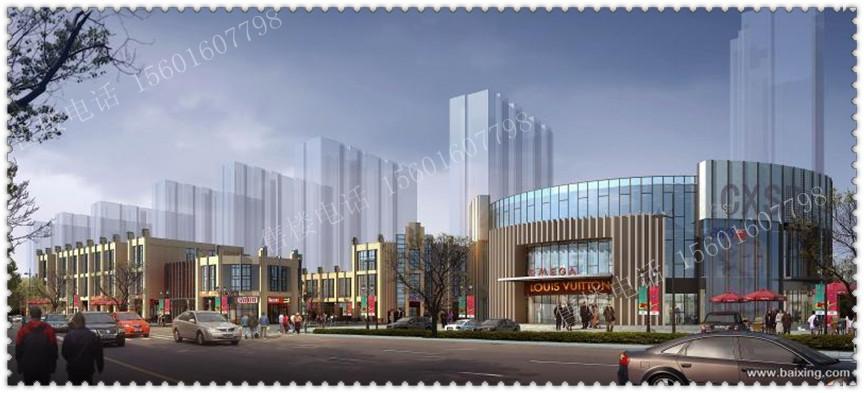 商业活动广场,文化生活广场)和7栋欧式风格的独立商业体共同构成.